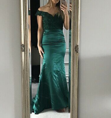 Emerald Green Prom Occassion Bridesmaid Dress NEW Size 10