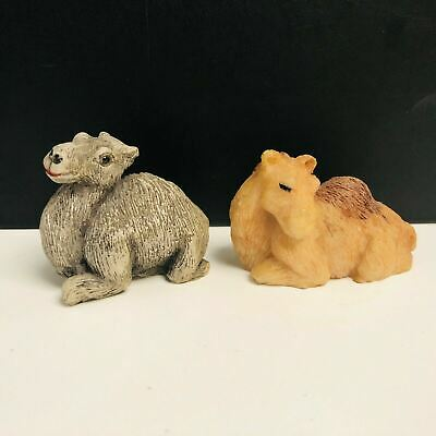 Pair of Miniature Collectable Resin Camel Figurines/Ornaments