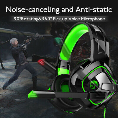 Gaming Headset Headphones With MIC For PC Switch Laptop PS4 Xbox One UK