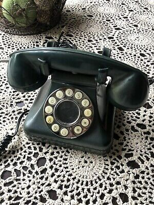 Traditional Style Green Telephone With Push Button Dial Savoy Model By CICENA