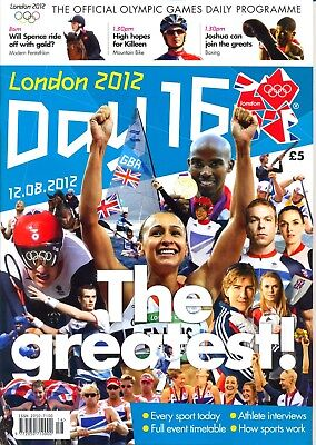Olympic Games Full Set Of All 16 Day Daily Programmes London 2012