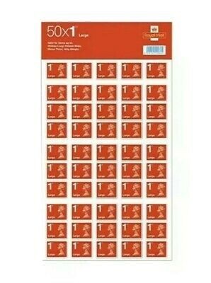 50 Royal Mail First Class Large Letter Size 1st Class StampsGenuine. Fast POST
