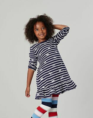Joules Girls Allie   Peplum Swing Dress  -  Size 7yr-8yr