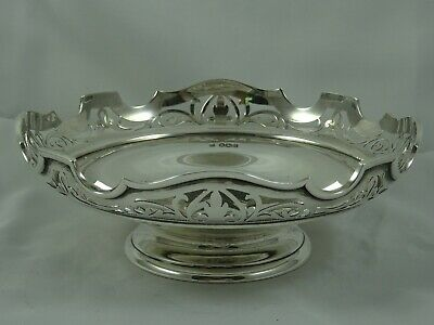PRETTY solid silver FRUIT BOWL, 1921, 358gm
