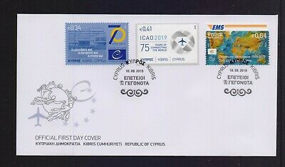 Cyprus 2019 Anniversaries - Events Set Stamps On Official Fdc Combined Shipping