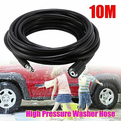 For 10m High Pressure Power Washer Hose Jet Wash Lance M14XM22 Thread 14mm UK