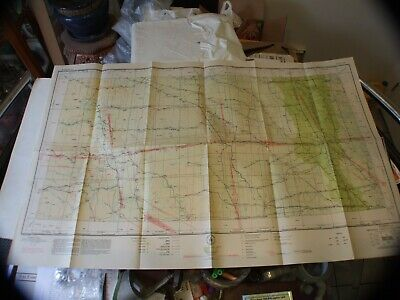 "Vintage Rare 1940 Sectional Aeronautical Chart Fargo, Nd 40""X24"" !!!"