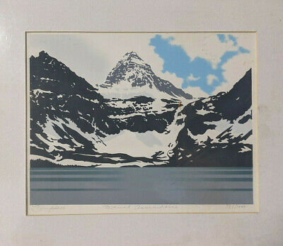 Leyda Campbell - Mount Assiniboine  - Limited Edition Serigraph 787/1000