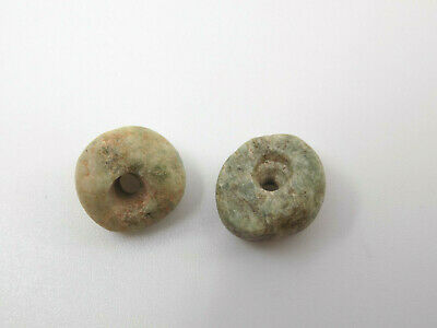 Pre-Columbian Round Jade Beads, Mayan, Authentic