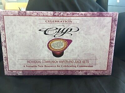 Communion Set Prefilled Cup Juice / Wafer Pkg-500 Sets Lords Supper