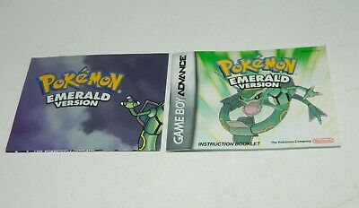 Pokemon Emerald for Game Boy Advance GBA Manual / Instruction Booklet