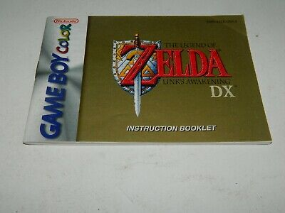 Legend of Zelda Link's Awakening DX - Game Boy Color - Manual / Instruction Book