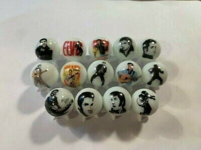 ELVIS  5/8 size marbles + stands