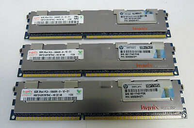 24GB Hynix Server Memory (3x8GB) 2Rx4 PC3 - 10600R - 9-10-E1