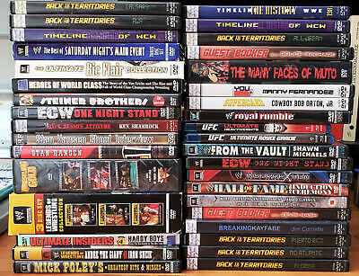 WWE WWF Kayfabe Commentaries High Spots ECW UFC DVD Huge lot