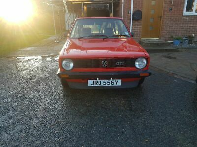 Mk1 golf gti mars red 1983 unmodified