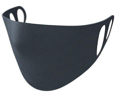 Reusable Face Mask Virus protection Washable Protective Cover Black  Full Face