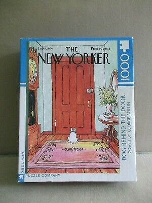 Jigsaw Puzzle -1000 Piece - The New Yorker - Dog Behind The Door- Complete