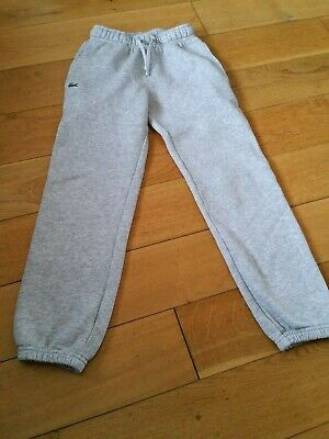 Lacoste Boys Girls Jogging Pants Joggers Bottoms Size Age 8 Years 128Cm Grey