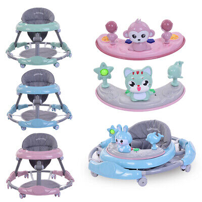 Baby Walker First Steps Push Along Bouncer Activity Ride On Car 4 Style 3 Color
