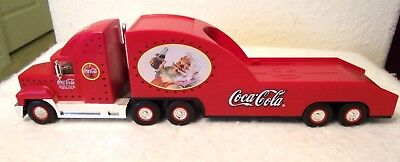 COCA-COLA Santa 2000 Helicopter Carrier Lighted 18 Wheeler Truck Limited Edition
