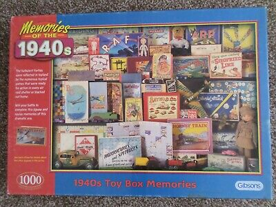 Memories of the 1940s Toy Box | Gibsons | 1000 pc Jigsaw Puzzle | Complete