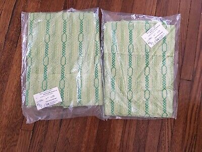 2 Packages Vintage Woven Curtains from Bamberger's - 60's/70'? (Celery Color)