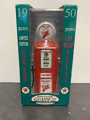 1950 Vintage Texaco Fire Chief Star Gas Pump Coin  Bank Gearbox Collectible