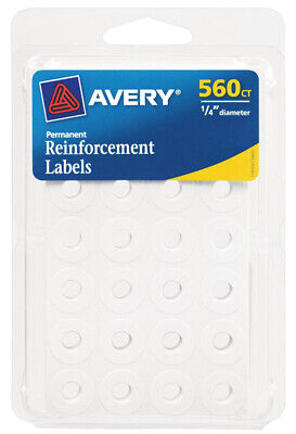 AVERY - Permanent Reinforcement Label White - 560 Pack