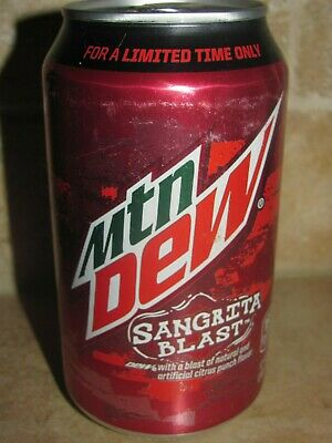 Mountain Dew Sangrita Blast / Taco Bell 12oz 355 ml *Full Soda Can 2015*
