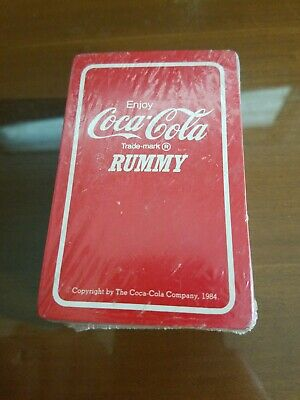 1984 deck of Coca-Cola Rummy playing cards - sealed