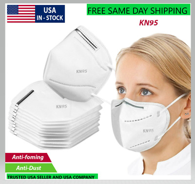 5 PCS KN95 Face Masks Disposable Mouth Cover Protective Respirator Mask PM2.5