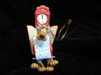 2000 Hanna Barbera Scooby Doo Coming Out of Clock Merry Christmas Ornament
