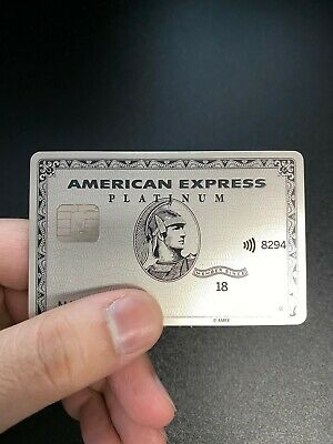 American Express Platinum Metal Card AMEX Titanium NOT ACTIVE