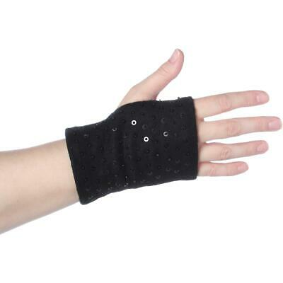 Avon Womens Black Sequined 2-In-1 Outerwear Winter Gloves O/S BHFO 6102