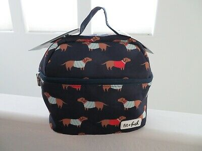 Fit + Fresh Insulated Lunch Bag Tote Dachshund 3 Containers NWT