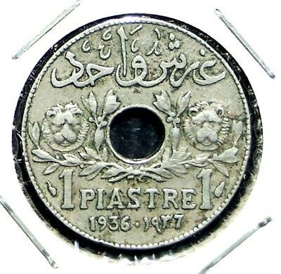 Lebanon - 1936 - 1 Piastre - Great Rare Coin!