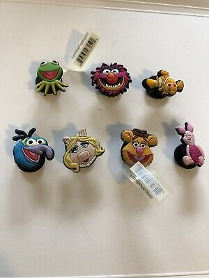 Lot of 7 Disney Characters & The Muppets Original Jibbitz Shoe Charms for Crocs