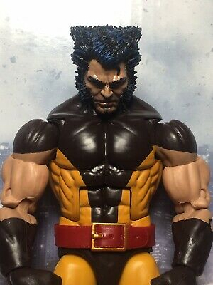 Marvel Legends Custom WOLVERINE Head ONLY for parts Cast Painted!!!