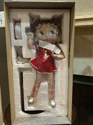 """Betty Boop Coca Cola """"Betty's Diner"""" Porcelain Doll - NIB With COA"""