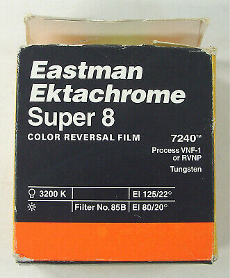 Vintage Eastman Ektachrome Super 8 Color Reversal Film 7240 Expired 74
