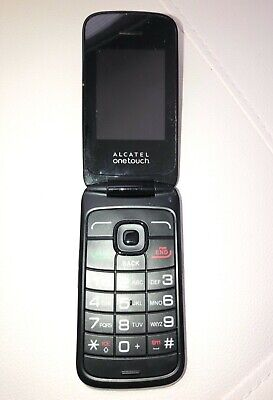 alcatel one touch cell phone - flip style with charger - black