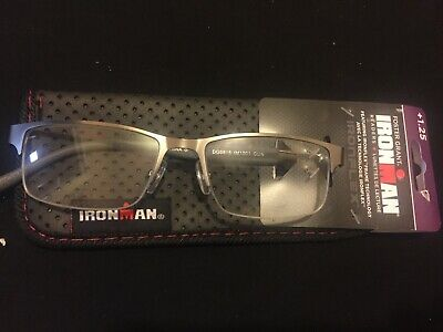 Foster Grant IRONMAN IRONFLEX *IM1001*  Reading Glasses Mens Readers* +1.25