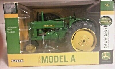 1/16 John Deere Model A Collector Edition with Historic info DVD Detailed, NIB