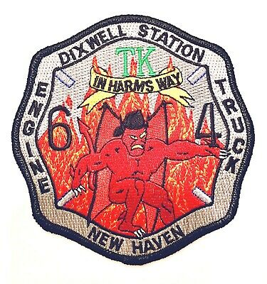 New Haven,Ct Fire Dept. Engine 6 Truck 4 Dixwell Station Patch