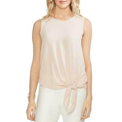 Vince Camuto Womens Pink Tie-Front Sleeveless Shirt Blouse Top XS BHFO 1885
