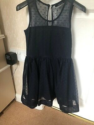 Monnalisa Jakioo Navy Dress Age 7 New