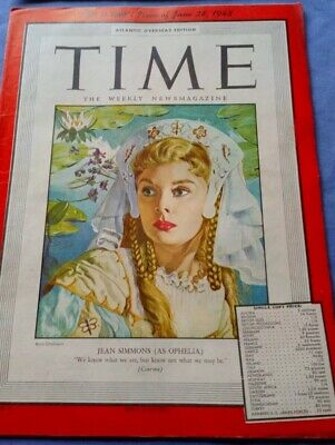 Rare TIME Magazine 1948, Jean Simmons Ophelia Picasso, Vintage, Collectors Copy