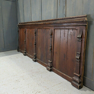 Mid Victorian 1850-60's Old Pine Panel with Buttresses