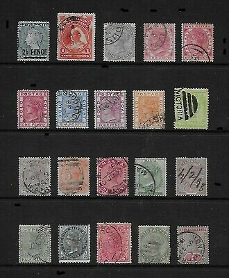 COMMONWEALTH unchecked lot of early used QV issues (20)